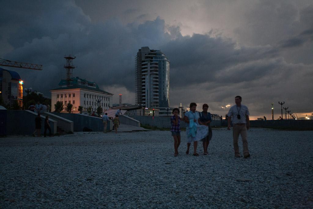 Новороссийск. Пляж ночью. фото Андрей Бондаренко