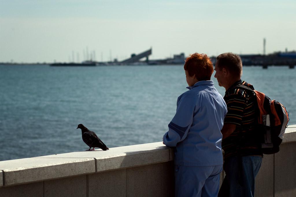 Новороссийск. набережная.люди и голуби. фото Андрей Бондаренко