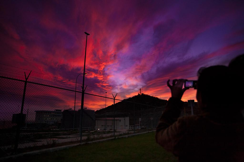 закат в южной озерейке. фотография андрея бондаренко