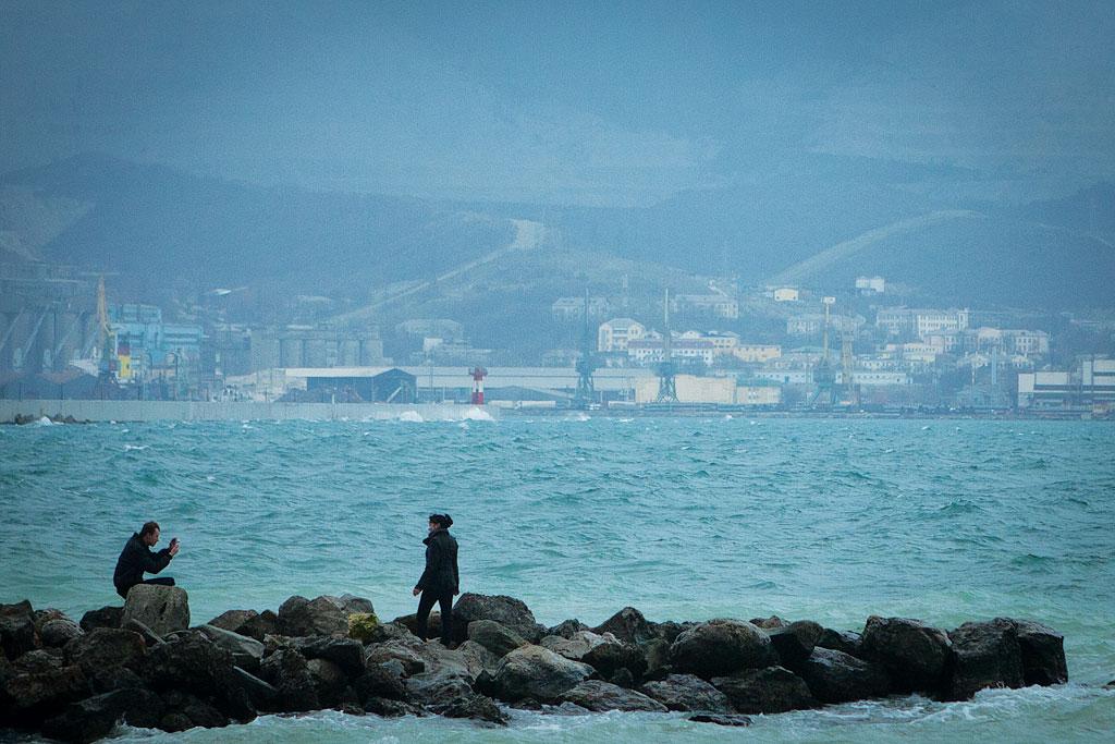 Цемесская бухта. Фотографируются. фото Андрей Бондаренко