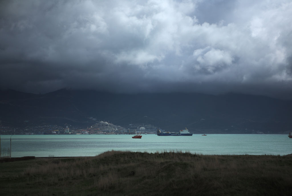 Вид с Малой Земли на Цемесскую бухту и Шесхарис. фото Андрей Бондаренко