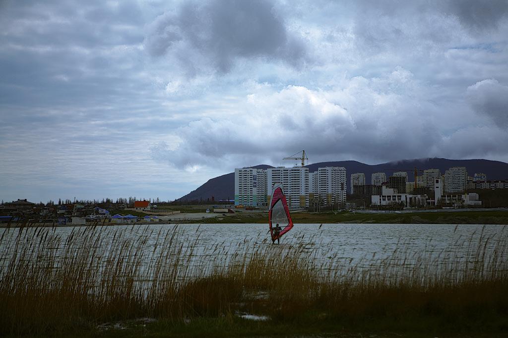 Новороссийск. Малая земля. Суджукский лиман. Виндсерфинг. фото Андрей Бондаренко