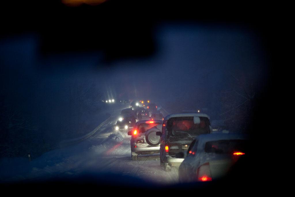 Новороссийск. Снег на перевале к Васильевке. фото Андрей Бондаренко