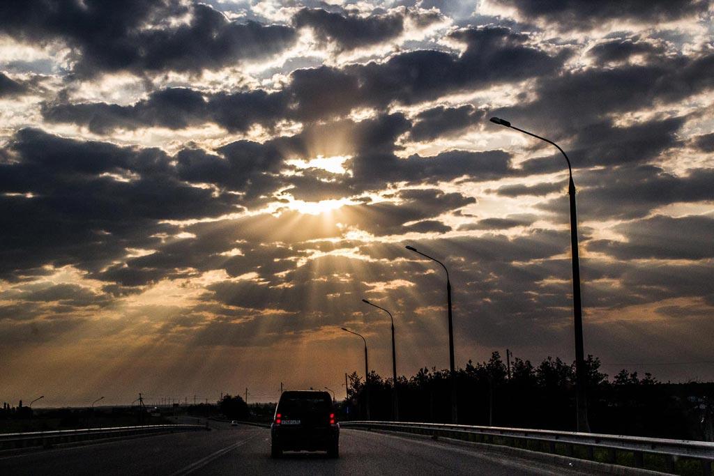 На восток! Трасса Новороссийск-Краснодар. фото Андрей Бондаренко